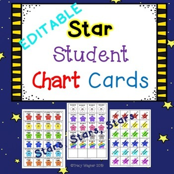 Pocket Chart Cards-Star Student (EDITABLE)