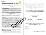 Student Star of the Week Parent Letter