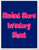 Student Store Accounting Sheet - School Supplies
