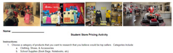 Student Store Pricing Activity & Research Project Based Learning