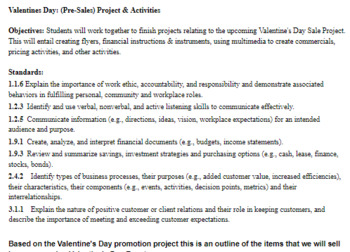 Student Store Valentines Day Student Store PBL/Simulation  CTE Business