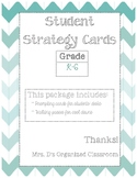 Student Strategy Cards