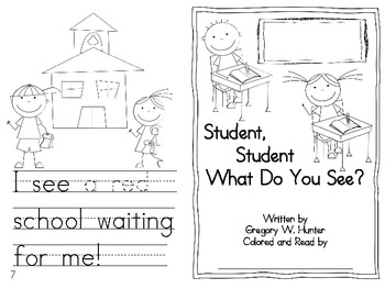 Student, Student What Do You See? (emergent reader)