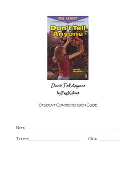 """Student Study Guide for """"Don't Tell Anyone"""" by Peg Kehret"""