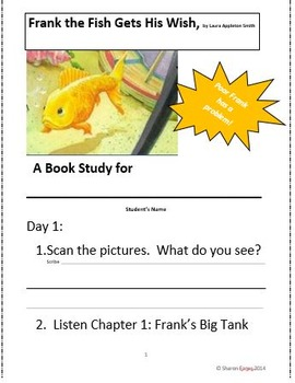Frank the Fish Gets his Wish Book Study