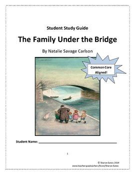 The Family Under the Bridge Student Study Guide and Activity Book