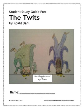 The Twits Student Study Guide and Reading Response Journal