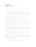 Student Study Guide w/ Teacher Key for Monster by Walter D