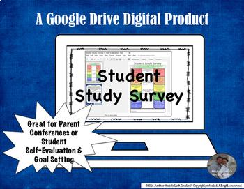 Student Study Survey & Parent Conference Google Drive Resource