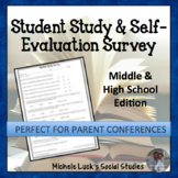 Student Study Survey for Learning Evaluation & Parent Conferences