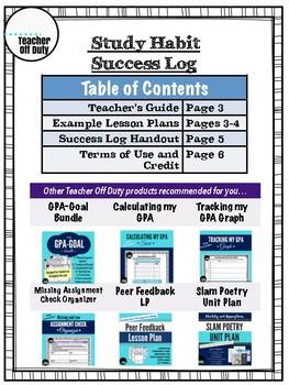 Study Habit Log