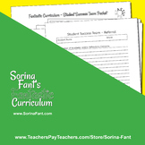 Sorina Fant's Fantastic Curriculum - Student Success Team Packet