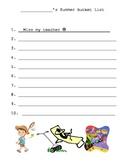 Student Summer Bucket List