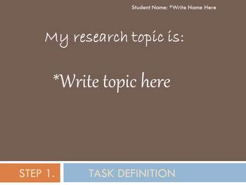 Student Super 3 Research PowerPoint