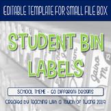 Student Supply Bin Labels (Editable)