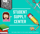 Student Supply Station Label using Emojis