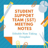 Student Support Team (SST) Meeting Notes