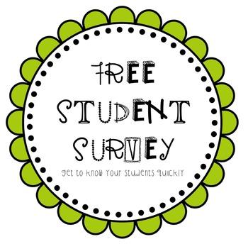 STUDENT SURVEY *FREE PRINTABLE*