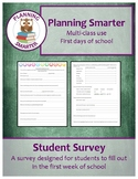 Student Survey: A survey for students to fill out in the f