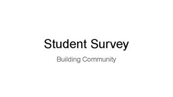 Student Survey Activity Cards