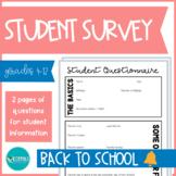 Student Survey   Back to School