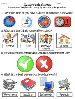 Student Survey: Differentiating Take Home Work