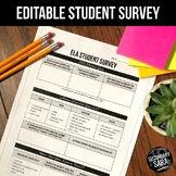 Student Survey: EDITABLE for Secondary ELA