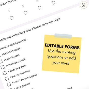 Google Form Class Surveys Bundle for Year Long Data Collection