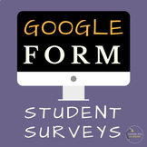Digital Google Forms Survey Bundle for Year Long Data Collection