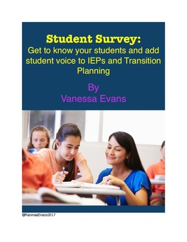 Student Survey - Get to Know Your Students & Add Student Voice to IEPs