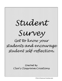 Student Survey-Getting to Know You tool