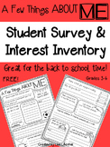 Student Survey ~ Interest Inventory
