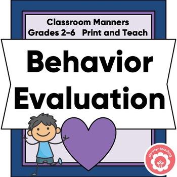 Student Behavior Self Evaluation