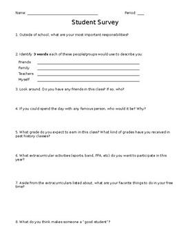 Student Survey (Middle School)