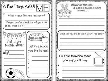 Student Survey & Quick-Writes