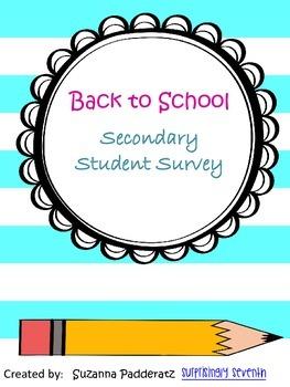 Student Survey - Secondary