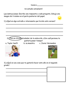Student Survey- Spanish