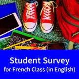 Student Survey for French Class (in English)