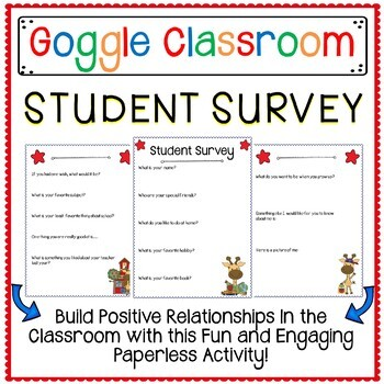 Student Survey For Google Classroom A Digital Classroom Resource