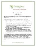 Student Survey of Classroom Expectations