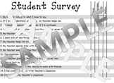 Student Survey of Classroom Teacher