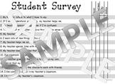 Student Survey of Classroom Teacher