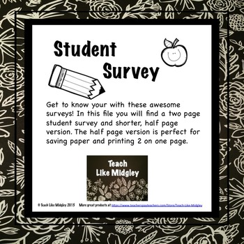 Student Surveys