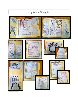 Student Survival Kit Lapbook:  Writing for End of Year or Back to School