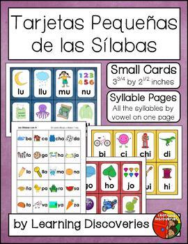 Student Syllable Cards in Spanish - Cartas de las Sílabas
