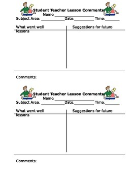 Student Teacher Checklist
