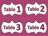 Student Table Labels