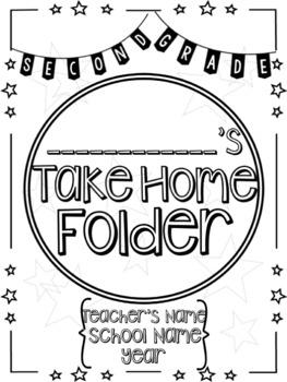 Student Take Home Folder & Binder Covers - Stars