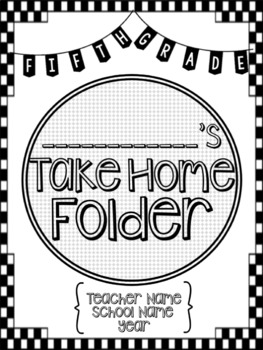 Student Take Home Folder & Binder Covers - Checkerboard