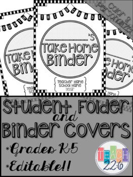 Student Take Home Binder Covers - Checkerboard